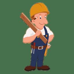 Profesión carpintero de dibujos animados