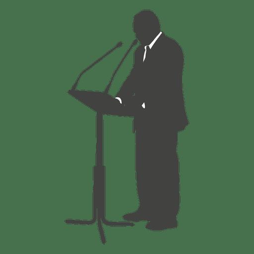Ceo giving speech silhouette