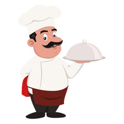 Profesor de dibujos animados del chef