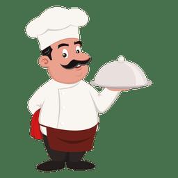 Profissão dos desenhos animados do cozinheiro chefe