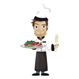Chef cartoon profession illustration
