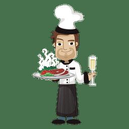 Ilustração de profissão de cozinheiro chefe dos desenhos animados