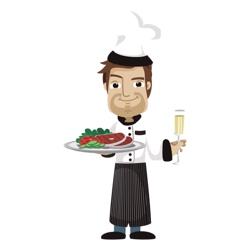 Ilustraci?n de profesi?n de dibujos animados de chef