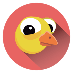 Chicken cartoon circle icon