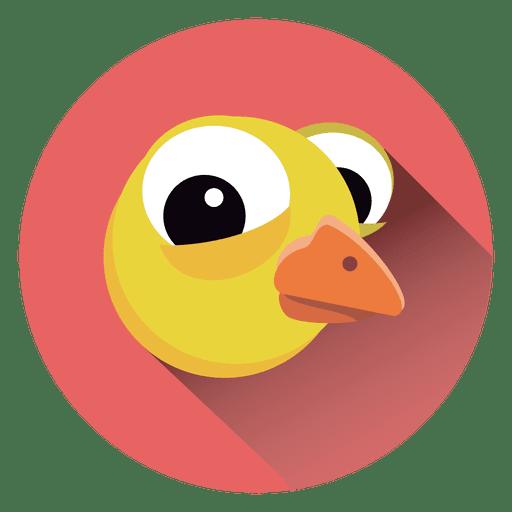 Icono de círculo de dibujos animados de pollo Transparent PNG
