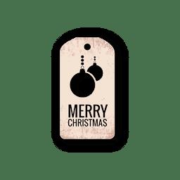 Christmas ball diecut label