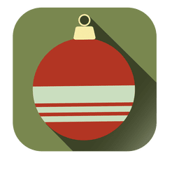 Christmas bauble decoration square icon