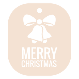 Campana de Navidad troquelada etiqueta