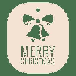 Christmas bell die cut label