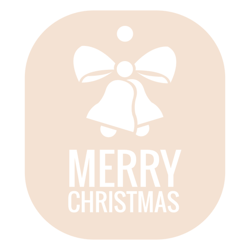 Christmas bell die cut label Transparent PNG