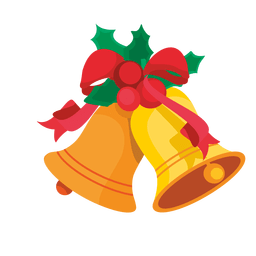 Desenho de visco de sinos de Natal