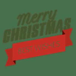 Etiqueta de fita dos melhores votos de Natal