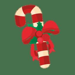 Fita de cana de doces de Natal