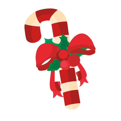 Christmas candy cane ribbon Transparent PNG