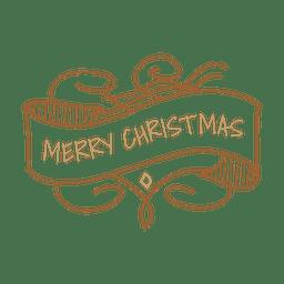 Etiqueta de la cinta de la decoración de Navidad