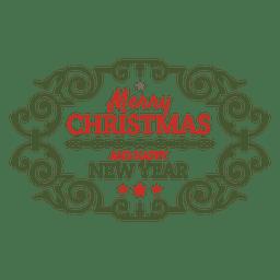 Feriado de Natal ornamentada distintivo