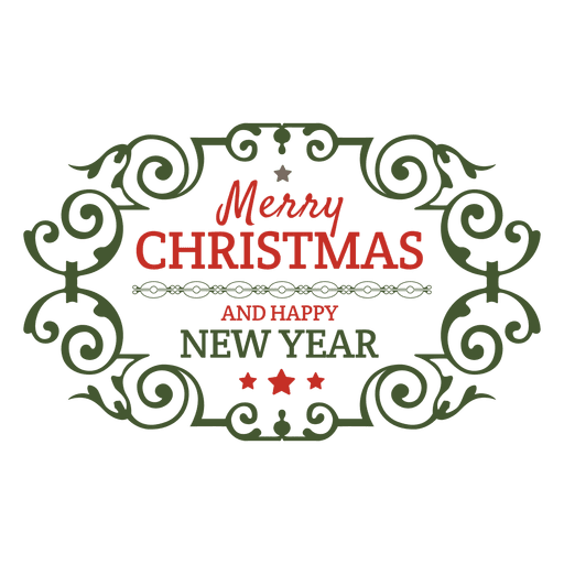 Christmas holiday ornamented badge Transparent PNG