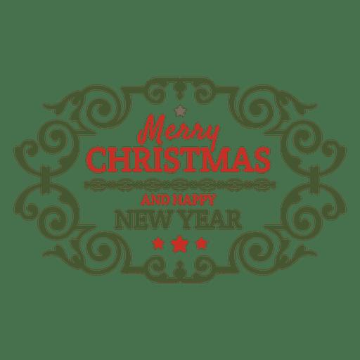 Feriado de Natal ornamentada distintivo Transparent PNG