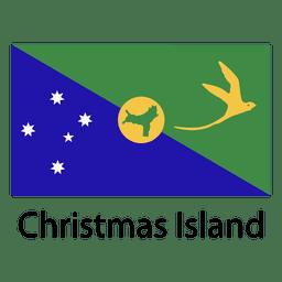 Christmas island national flag