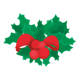 Christmas mistletoe cartoon