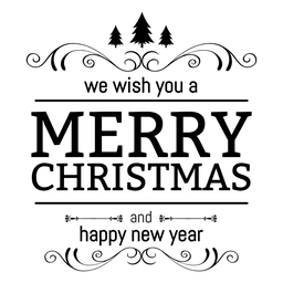 Christmas new year greeting badge