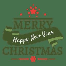 Natal ano novo hoiday crachá