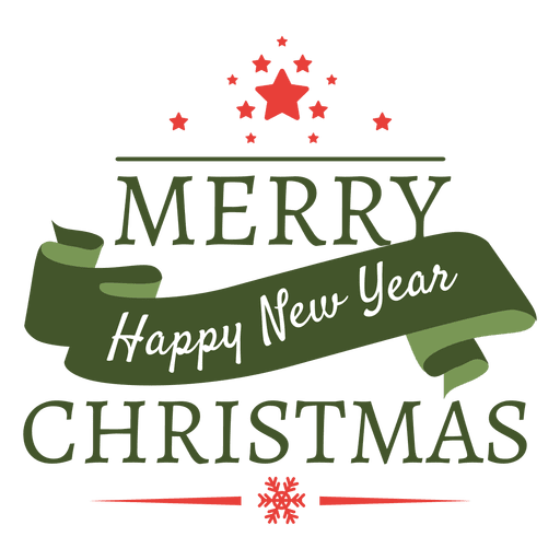 christmas new year hoiday badge transparent png