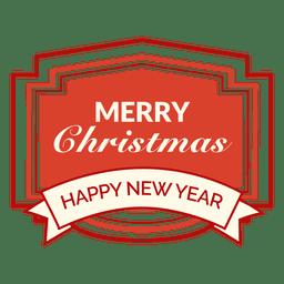 Distintivo retrô de ano novo de Natal