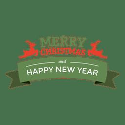 Selo de fita de ano novo de Natal