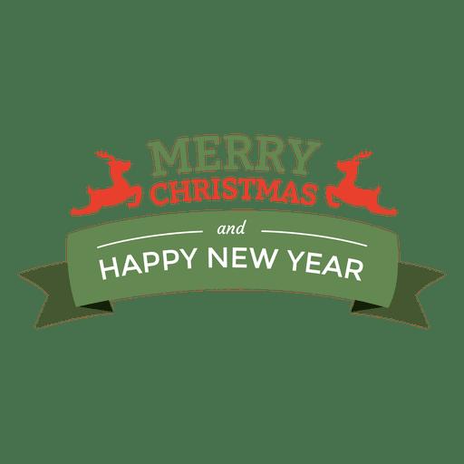 Christmas new year ribbon seal Transparent PNG