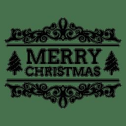 Emblema ornamentado de Natal