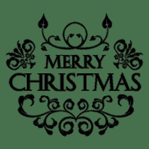 Rótulo ornamentado de Natal Transparent PNG