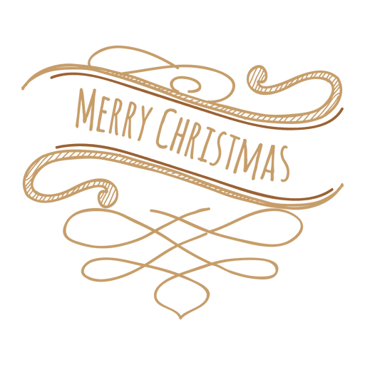 Christmas ornate ribbon doodle Transparent PNG
