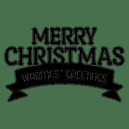 Banner de saludo de cinta de Navidad