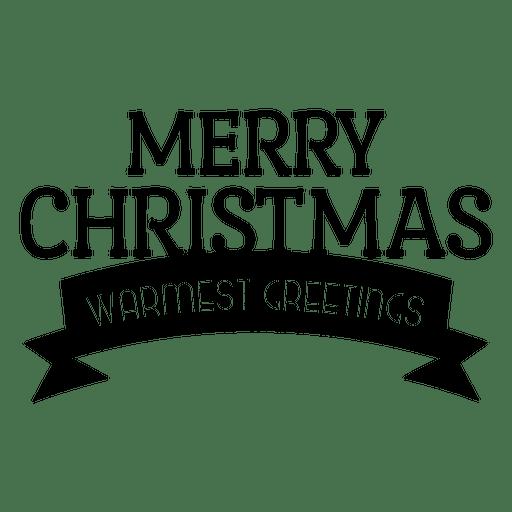Banner de saludo de cinta de Navidad Transparent PNG