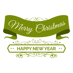 Distintivo de ano novo de fita de Natal