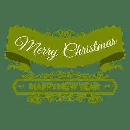 Weihnachtsband Neujahr Abzeichen