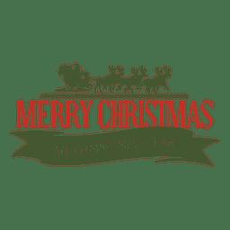 Christmas sleigh new year badge