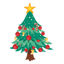 Christmas tree cartoon decoration