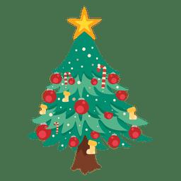 Decoração dos desenhos animados da árvore de Natal