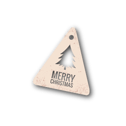 Christmas tree diecut tag
