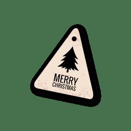 Tag de corta de árvore de Natal