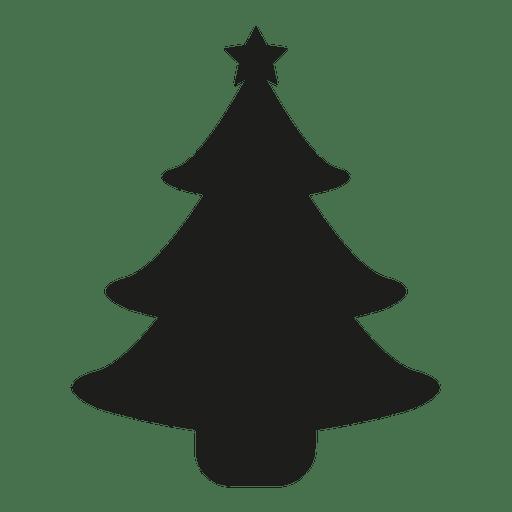 silueta del rbol de navidad descargar png svg transparente