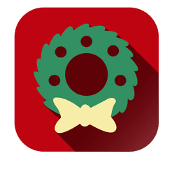 Christmas wreath square icon