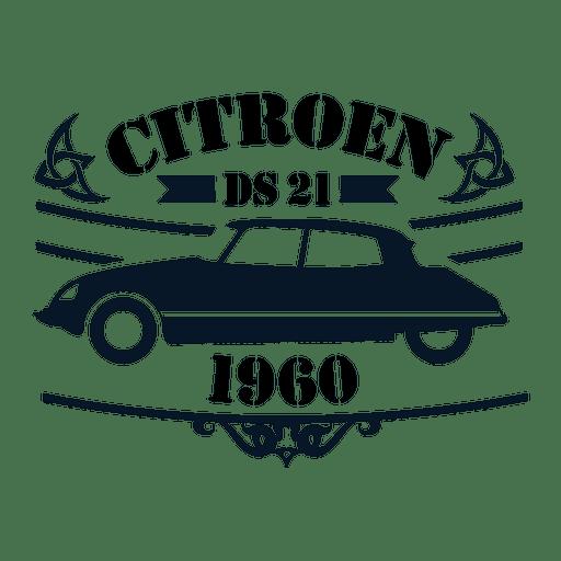 Citroen ds21 retro label