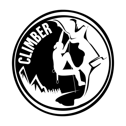 Climber camping badge Transparent PNG