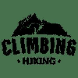 Etiqueta de viagem de escalada