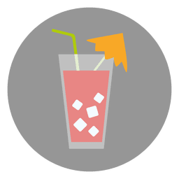 Cocktail glass circle icon