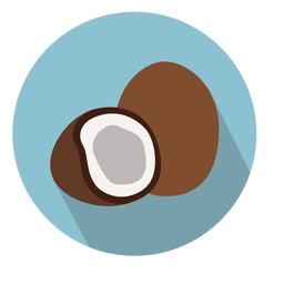 Coconut circle icon