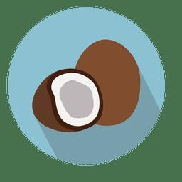 Icono de circulo de coco